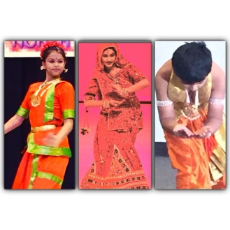 Some of our elite performers. Bharatnatyam in 2 different styles and Indian Folk